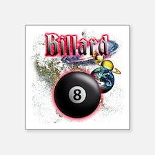 """billard Square Sticker 3"""" x 3"""""""