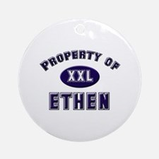 Property of ethen Ornament (Round)