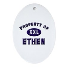 Property of ethen Oval Ornament