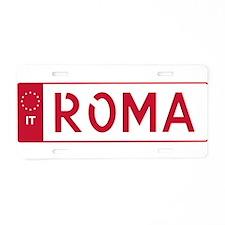 Unique Rome Aluminum License Plate