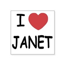 "JANET Square Sticker 3"" x 3"""