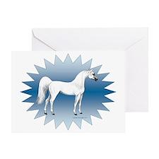 AmiShaklancirclestarbluebkgrnd Greeting Card