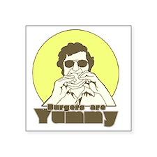 """burger02 Square Sticker 3"""" x 3"""""""