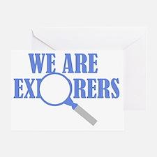 Explorers light Greeting Card