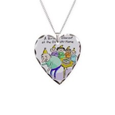 Birthday Blowout Necklace Heart Charm