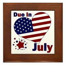 DUE IN JULY Framed Tile