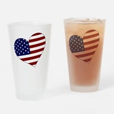 usa heart Drinking Glass