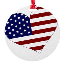 usa heart Ornament