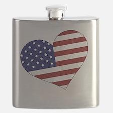 usa heart Flask