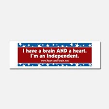 Brain and a Heart, ver 1 Car Magnet 10 x 3