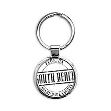 South Beach Title W Round Keychain