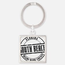 South Beach Title W Square Keychain