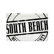 South Beach Title W Rectangle Magnet