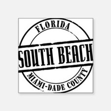 "South Beach Title W Square Sticker 3"" x 3"""