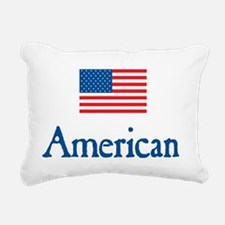 American Under FLAG Rectangular Canvas Pillow