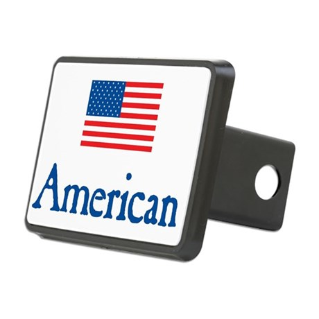 American Under FLAG Rectangular Hitch Cover