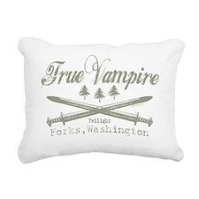 true vampire pine trees  Rectangular Canvas Pillow