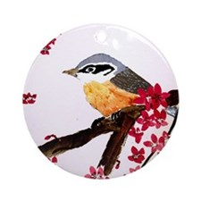 Nuthatch Round Ornament