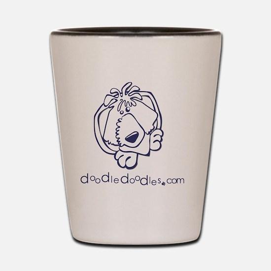 doodle-doodle-logo-blue Shot Glass