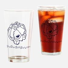 doodle-doodle-logo-blue Drinking Glass