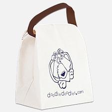 doodle-doodle-logo-blue Canvas Lunch Bag