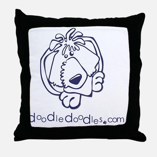 doodle-doodle-logo-blue Throw Pillow