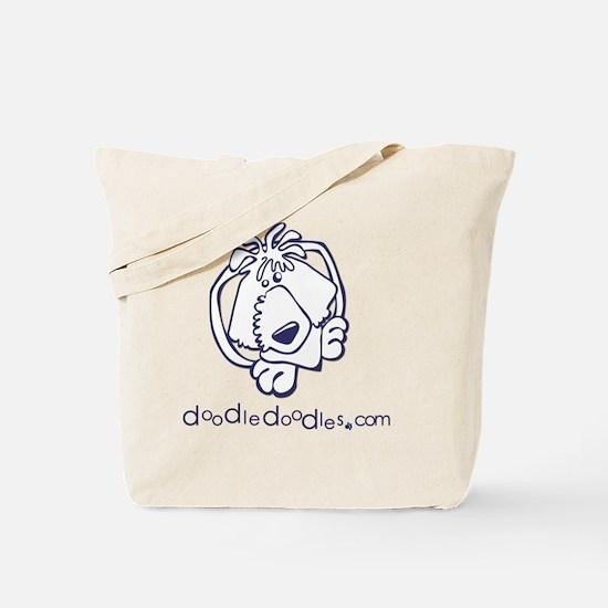doodle-doodle-logo-blue Tote Bag
