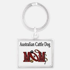 australian cattle dog2 Landscape Keychain