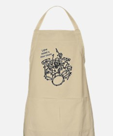 Four counting drummer black Apron