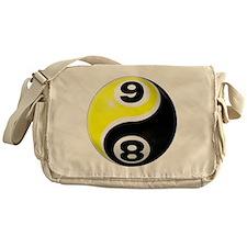 8 Ball 9 Ball Yin Yang Messenger Bag