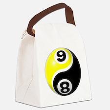 8 Ball 9 Ball Yin Yang Canvas Lunch Bag