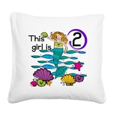 MERMAIDTwo Square Canvas Pillow