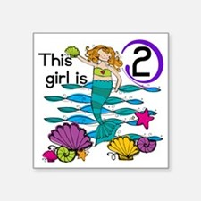"MERMAIDTwo Square Sticker 3"" x 3"""