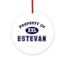 Property of estevan Ornament (Round)
