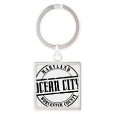 Ocean City Title W Square Keychain