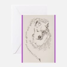 Samoyed_KlineZ Greeting Card