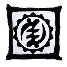 NYAME YE OHENE-BLACK-01 Throw Pillow