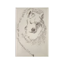 Samoyed_KlineZ Rectangle Magnet
