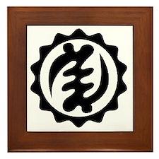 NYAME YE OHENE-BLACK-01 Framed Tile