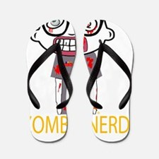 Zombie Nerd black copyrighted Flip Flops