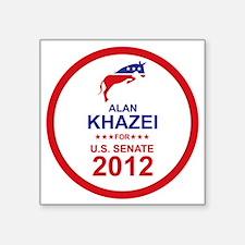 "2012_alan_khazei_main Square Sticker 3"" x 3"""