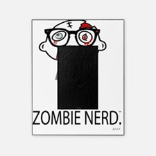 Zombie Nerd WHITE copyrighted Picture Frame