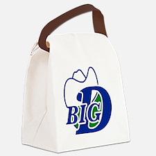 Big D Canvas Lunch Bag