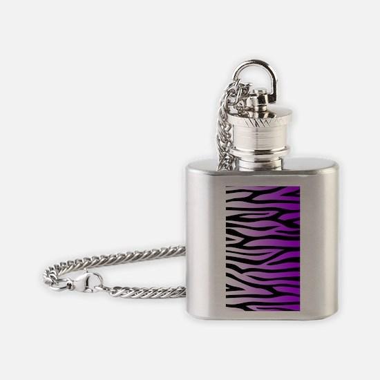 purple-gradient-zebra-3g-hard Flask Necklace