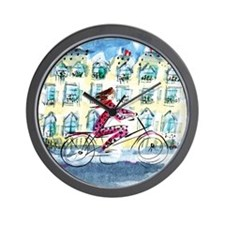 AWP_CafePress_bicyclette_10x10 Wall Clock