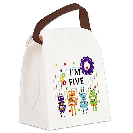 ROBOTFIVE Canvas Lunch Bag
