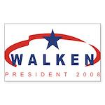 Christopher Walken for Presid Sticker (Rectangular