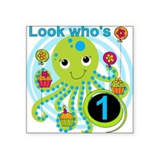 """OCTOPUSfirst Square Sticker 3"""" x 3"""""""