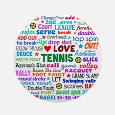 Tennis Names Shirt Round Ornament