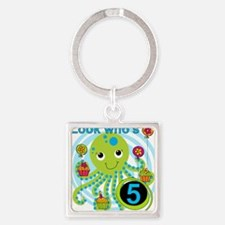 OCTOPUSfive Square Keychain